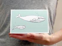 thank you whale card