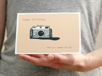 happy birthday camera card