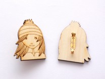 Girl brooch
